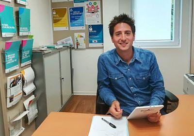 Nicolas Debrauwer, conseiller entreprise à Pôle emploi Wissembourg. © Pôle emploi