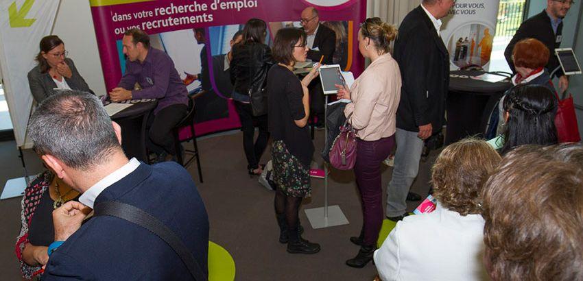 Depuis plusieurs années, Pôle emploi participe, avec succès, au Moovijob Tour Strasbourg. © Laurent Castellino.