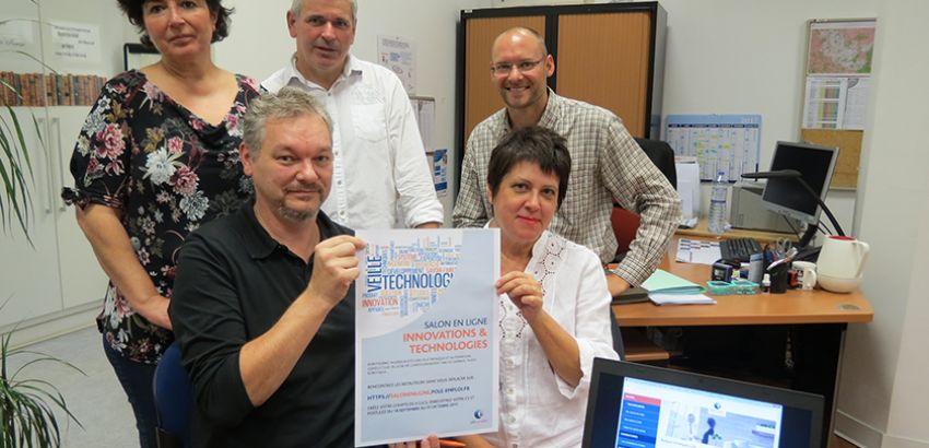 Les conseillers des deux agences Pôle emploi de Forbach ont travaillé ensemble pour lancer leur premier salon en ligne. © Josette Briot / RL