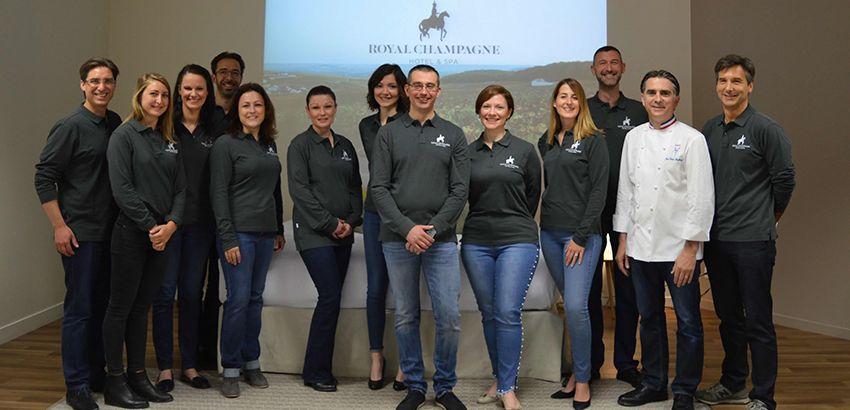 L'équipe du Royal Champagne au pôle emploi d'Epernay.