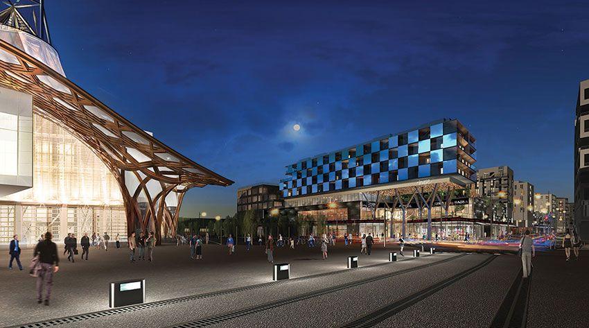 Des centaines de recrutements ont été confiés à Pôle emploi en vue de l'ouverture du centre commercial Muse à Metz. © Muse - Apsys