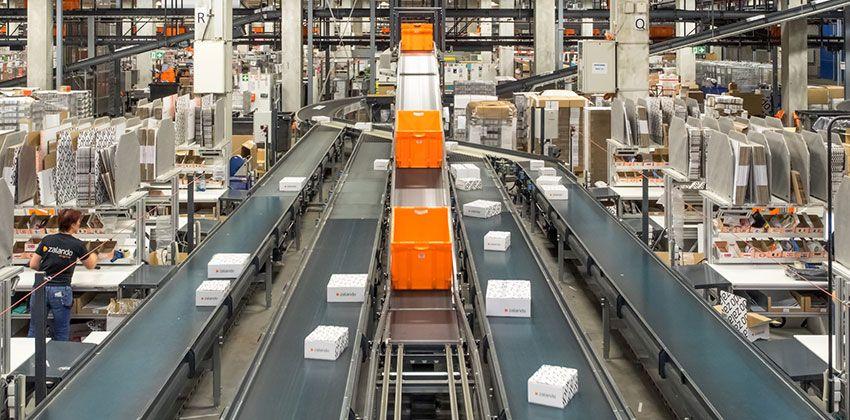 Plate-forme logistique de Zalando, en Allemagne